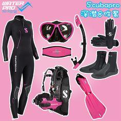 SCUBAPRO Scuba Diving Equipment SET wetsuit boots gloves fins bcd mask snorkel mask strap