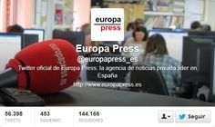 Fotos Twitter de portadas de Europa Press