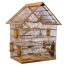 Antique and Vintage Bird Cages - 120 For Sale at The bird cage is both a house for your birds and an attractive tool. You can choose whatever you need on the list of bird cage models and get a lot more special images. Diy Parakeet Cage, Caged Bird Feeders, Antique Bird Cages, The Caged Bird Sings, Bird Aviary, Crazy Bird, Vintage Birds, Bird Feathers, Beautiful Birds
