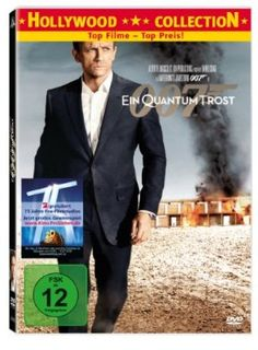 James Bond 007: Ein Quantum Trost  2008 UK,USA      Jetzt bei Amazon Kaufen Jetzt als Blu-ray oder DVD bei Amazon.de bestellen  IMDB Rating 6,7 (167.128)  Darsteller: Daniel Craig, Olga Kurylenko, Mathieu Amalric, Judi Dench, Giancarlo Giannini,  Genre: Action, Adventure, Crime,  FSK: 12