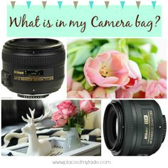 What is in my camera bag -Place Of my Taste