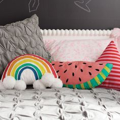 Rainbow Throw Pillow | The Land of Nod