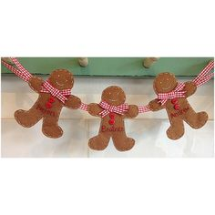 Christmas Gingerbread family garland. by Aisydaisyshop on Etsy