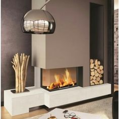 ONLY interested in the Color scheme used on fireplace wall! Rodda's Blue Jay on the chase with Rodda's Lavender on the fireplace wall and base of fireplace. Stove Fireplace, Fireplace Wall, Fireplace Design, Fireplace Ideas, Living Room Accents, Living Room Decor, Living Rooms, Interior Design Living Room, Living Room Designs