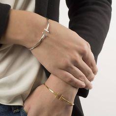 T-bar 925 sterling silver bangle, Minimal jewelry bangle, T-bangle,High Shine & Gold Plated,Handmade Jewellery Made to Order Minimal Jewelry, Bangles, Bracelets, Rose Gold Plates, Love Fashion, 18k Gold, Minimalism, Handmade Jewelry, Jewelry Making