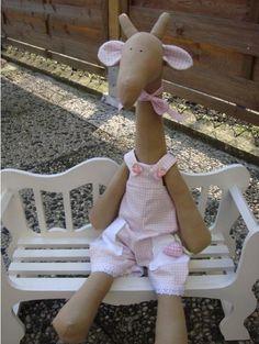 Тильда жираф и Тильда слоник: выкройки мягких игрушек для шитья