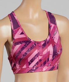 Look at this Crown Jewel Rusted Stripe Sports Bra on #zulily today!