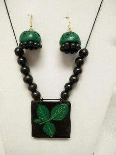 Terracotta Jewellery Designs, Terra Cotta, Polymer Clay, Jewelry Design, Leaves, Drop Earrings, Create, Life, Ideas