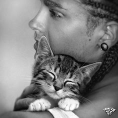 Tom with a kitten