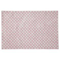 Tappeto rosa a pois 120 x 180 cm DOLLY