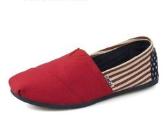 Toms Canvas Women Classics USA Banner Red/More than half off!,you won't want to miss. Find dealsplus.com Tom's Coupons!