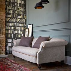 The Harris Tweed Bowmore Chair - British Tetrad Harris Tweed Furniture Living Furniture, Living Room Sofa, Home Living Room, Harris Tweed, Tetrad Sofa, Sofa Design, Interior Design, Home Decor Bedroom, Room Inspiration