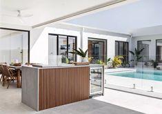 Outdoor Bbq Kitchen, Outdoor Kitchen Design, Alfresco Designs, Alfresco Ideas, Outdoor Spaces, Outdoor Living, Built In Bar, Bbq Area, Villa