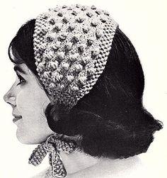 Popcorn-Stitch Headband knit pattern from High Fashion Hats, originally publishe. - Popcorn-Stitch Headband knit pattern from High Fashion Hats, originally publishe… Popcorn-Stitc - Sweater Knitting Patterns, Knitting Stitches, Knit Patterns, Vintage Patterns, Free Knitting, Sock Knitting, Vogue Knitting, Knit Sweaters, Knitting Machine