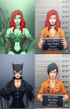 Poison Ivy and Catwoman Gotham Villains, Comic Villains, Batgirl, Catwoman, Beware The Batman, Dc Comics Vs Marvel, Lego Dragon, Batman Universe, Dc Characters