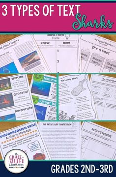 Are you ready for Shark Week? Students will be engaged with this nonfiction, fictional story and poem all about sharks! Great white sharks, Hammerhead sharks and more! Your students will love reading all about sharks!