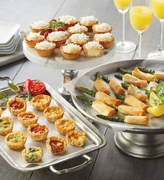 Brunch Bites Appetizer Trio by Harry & David - Mother's Day Gifts - Gourmet Gifts for Mom - Appetizers Delivered Brunch Recipes, Gourmet Recipes, Appetizer Recipes, Mini Appetizers, Brunch Ideas, Birthday Party Appetizers, Toothpick Appetizers, Light Appetizers, Birthday Brunch