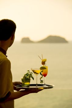 Main Lobby Lounge serves your favorite sunset cocktails and drinks every day #conradkohsamui