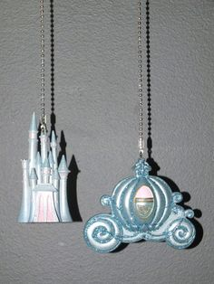 Cinderella Castle and Carrage Fan/Light Pull by DuckySuppliers, $21.00