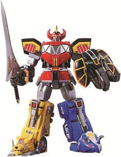 Amazon.com: Bandai Tamashii Nations Super Robot Chogokin Megazord Mighty Morphin Power Rangers: Toys & Games