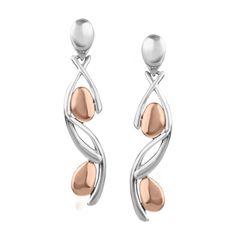 Shine in #metallics // Carolyn Pollack Copper & Sterling Silver Drop Earrings