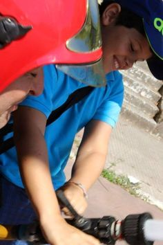 Nenos do campamento de verán  de Volboretas a usar o noso material. Ribadavia. Xullo 2015 (3)
