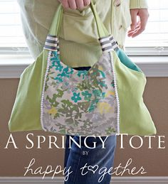A Springy Tote Tutorial by ohsohappytogether, via Flickr