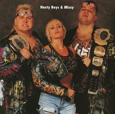 WCW World Tag Team Champions The Nasty Boyz & Missy