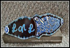 Custom noseband for Leather and Lace Drill Team, colors of blue and silver