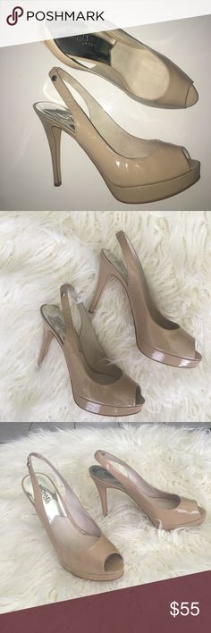 Michael KORS Nude Peep Toe Slingback Pumps Heels Authentic Michael KORS Peep Toe heel. LIKE NEW. Little to no signs of wear! 4 inch heel of art by a 1 inch platform. Size 9 1/2 MICHAEL Michael Kors Shoes Heels