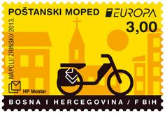 "europa stamps: Bosnia and Herzegovina (Croat post) 2013 - Europa 2013 ""The postman van""  celebrating PostEuropa's 20th anniversary - 1993-2013"