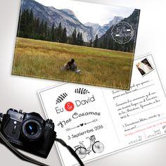 #invitación #BOda #Postal #Foto