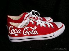 Coke shoes....need to make these for dad :)