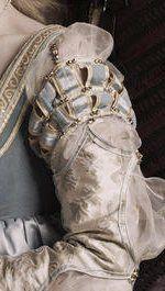The Borgia: Detail in sleeves of the Lucrezia. Costume Renaissance, Victorian Costume, Renaissance Fashion, Italian Renaissance, Period Costumes, Movie Costumes, Cool Costumes, Historical Costume, Historical Clothing