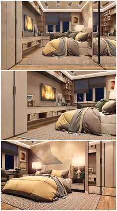 Welcome Pikide - Bedroom Bed Design, Modern Bedroom Design, Small Room Bedroom, Home Bedroom, Rose Gold Room Decor, Sims House Design, False Ceiling Bedroom, Studio Apartment Decorating, Bedroom Layouts