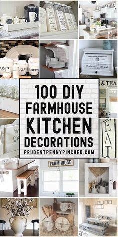 This collection of DIY farmhouse kitchen decor ideas will give you some inspiration for how to bring country charm into your kitchen on a budget.