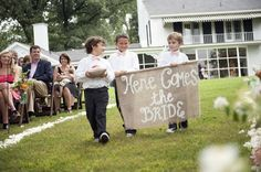 burlap wedding sign + love this day events