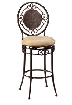 Hillsdale Richland 26-Inch Swivel Counter Stool, Black Gold Finish with Buckskin Faux-Suede Fabric by Hillsdale Furniture. $199.00