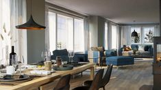 3d Visualization, Conference Room, Table, Projects, Furniture, Home Decor, Log Projects, Blue Prints, Decoration Home