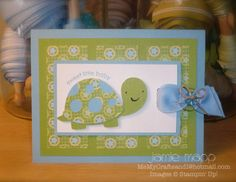 Baby shower turtle by jamiemapp78 - Cards and Paper Crafts at Splitcoaststampers