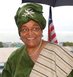 As the president of Liberia, Ellen Johnson Sirleaf is the first and only elected female head of state in Africa. She served as Liberia's Minister of Finance under President William Tolbert from until she left the country during its coup d'etat in Ellen Johnson Sirleaf, Condoleezza Rice, Laura Bush, Women In Leadership, Female Head, Ladies Day, E Design, Strong Women