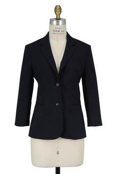 The Row - Schoolboy Navy Blue Jacket | Shop Online