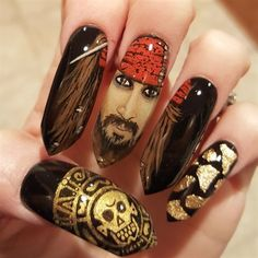 Captain Jack  Sparrow  by Oli123 from Nail Art Gallery
