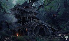 Dragon Hunter house design, Bryan Sola on ArtStation at…