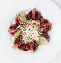 Thai fig-and-nectarine salad with fig-and-balsamic syrup