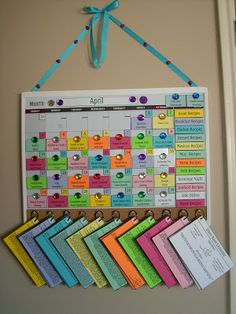 Now let's put your menu board together! First, as a family, or on your own, (I had my husband do this part) choose the 28-31 dinners you wan...