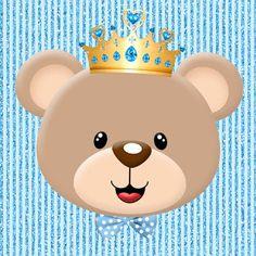 Minhas coisinhas festa personalizada: kit ursinho príncipe para imprimir gratis Teddy Bear Baby Shower, Baby Boy Shower, Sprinkle Shower, Little King, Baby Shower Invitaciones, Bear Party, Baby Kit, Baby Mermaid, 3rd Baby