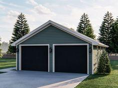 050g 0103 Two Car Garage Plan In 2020 2 Car Garage Plans Garage Plan Two Car Garage