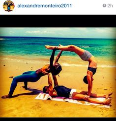acro 3-person pose