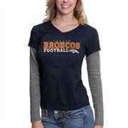 @Fanatics ®  #FanaticsWishList  Touch by Alyssa Milano Denver Broncos Ladies Big Play Long Sleeve Premium T-Shirt - Navy Blue/Ash
